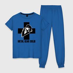 Пижама хлопковая женская Metal Gear Solid цвета синий — фото 1