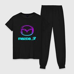 Пижама хлопковая женская MAZDA цвета черный — фото 1