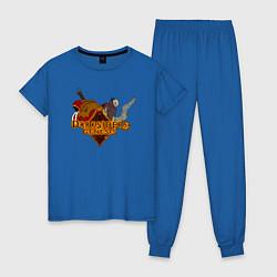 Пижама хлопковая женская Darksiders Genesis цвета синий — фото 1