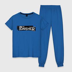 Пижама хлопковая женская The Punisher цвета синий — фото 1