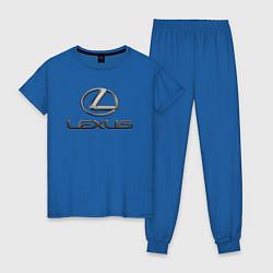 Пижама хлопковая женская LEXUS цвета синий — фото 1