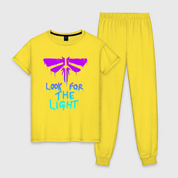 Пижама хлопковая женская ЦИКАДЫ LOOK FOR THE LIGHT цвета желтый — фото 1