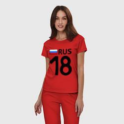 Пижама хлопковая женская RUS 18 цвета красный — фото 2