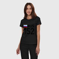 Пижама хлопковая женская RUS 152 цвета черный — фото 2
