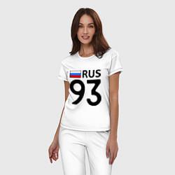 Пижама хлопковая женская RUS 93 цвета белый — фото 2