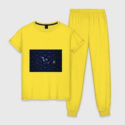 Пижама хлопковая женская Pacman цвета желтый — фото 1
