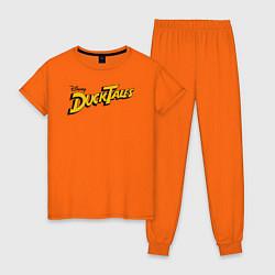 Пижама хлопковая женская Ducktales цвета оранжевый — фото 1