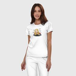 Пижама хлопковая женская Тор Одинсон цвета белый — фото 2