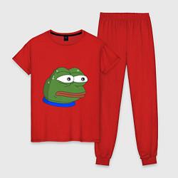 Пижама хлопковая женская Pepe MonkaS цвета красный — фото 1