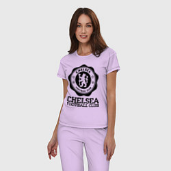 Пижама хлопковая женская Chelsea FC: Emblem цвета лаванда — фото 2