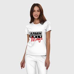 Пижама хлопковая женская Armin Only: Mirage цвета белый — фото 2