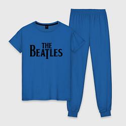 Пижама хлопковая женская The Beatles цвета синий — фото 1