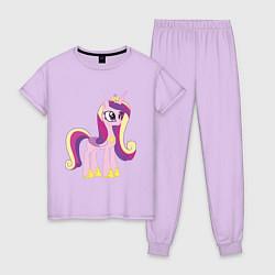 Пижама хлопковая женская Принцесса Каденс цвета лаванда — фото 1