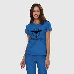 Пижама хлопковая женская Tiesto цвета синий — фото 2