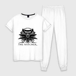 Пижама хлопковая женская The Witcher 3 цвета белый — фото 1