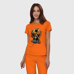 Пижама хлопковая женская STALKER: Soldier цвета оранжевый — фото 2