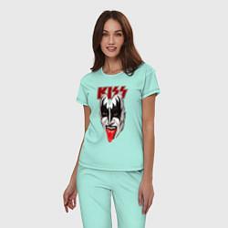 Пижама хлопковая женская Kiss Rage цвета мятный — фото 2