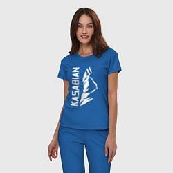 Пижама хлопковая женская Kasabian цвета синий — фото 2