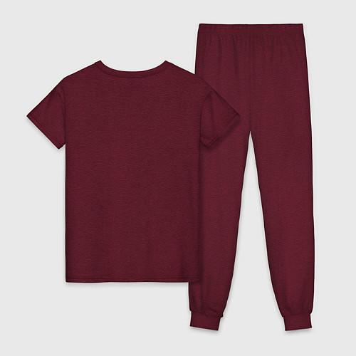 Женская пижама Soul Eater: White / Меланж-бордовый – фото 2