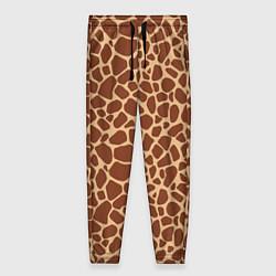Брюки женские Жираф цвета 3D-принт — фото 1