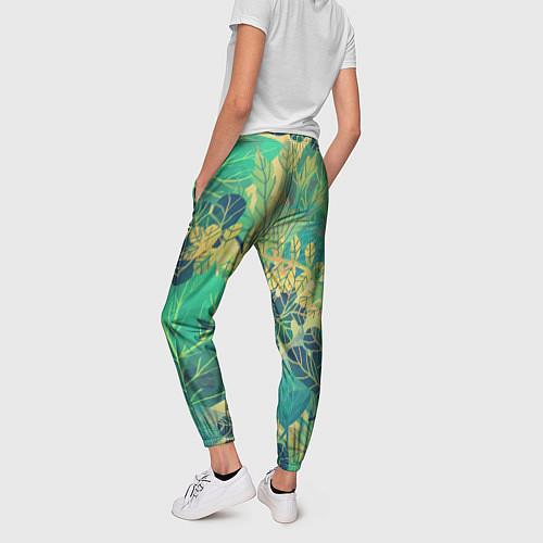 Женские брюки Узор из листьев / 3D – фото 2