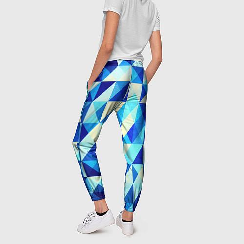 Женские брюки Синяя геометрия / 3D – фото 2