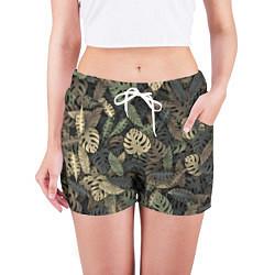 Шорты женские Тропический камуфляж цвета 3D — фото 2