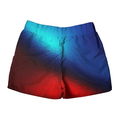 Женские шорты Синий и красный / 3D – фото 2