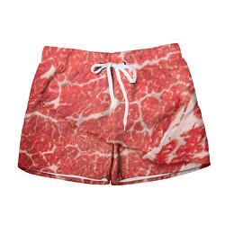 Шорты женские Кусок мяса цвета 3D — фото 1
