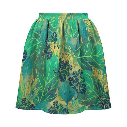 Женская юбка Узор из листьев / 3D – фото 2