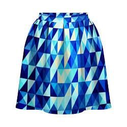 Женская юбка Синяя геометрия