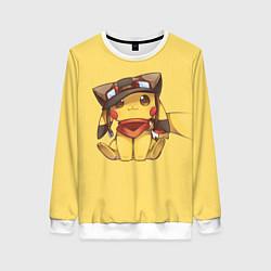Свитшот женский Pikachu цвета 3D-белый — фото 1