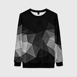Свитшот женский Abstract gray цвета 3D-черный — фото 1
