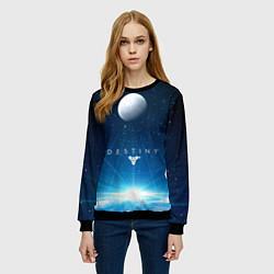 Свитшот женский Destiny Space цвета 3D-черный — фото 2
