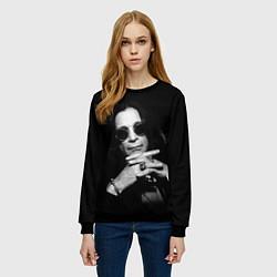 Свитшот женский Оззи Осборн цвета 3D-черный — фото 2