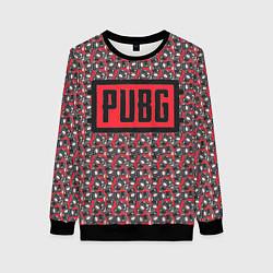 Свитшот женский PUBG: Red Pattern цвета 3D-черный — фото 1