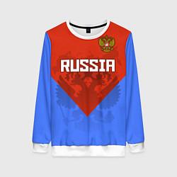 Женский свитшот Russia Red & Blue