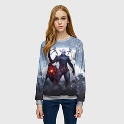 Свитшот женский Dark Knight цвета 3D-меланж — фото 2