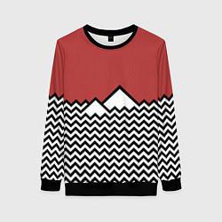 Свитшот женский Горы Твин Пикс цвета 3D-черный — фото 1