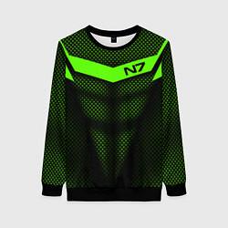Свитшот женский N7: Green Armor цвета 3D-черный — фото 1