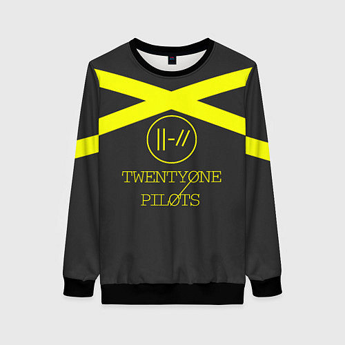 Женский свитшот Twenty One Pilots: Yellow Lines