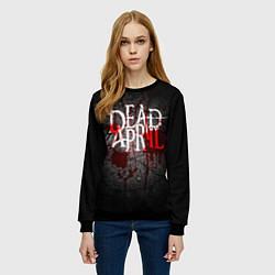Свитшот женский Dead by April цвета 3D-черный — фото 2