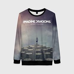Свитшот женский Imagine Dragons: Night Visions цвета 3D-черный — фото 1