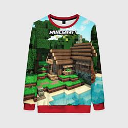 Свитшот женский Minecraft House цвета 3D-красный — фото 1