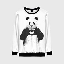 Свитшот женский Panda Love цвета 3D-черный — фото 1