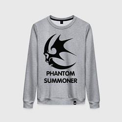 Свитшот хлопковый женский Dark Elf Mage - Phantom Summoner цвета меланж — фото 1