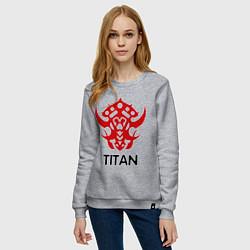 Свитшот хлопковый женский Orc Fighter - Titan цвета меланж — фото 2