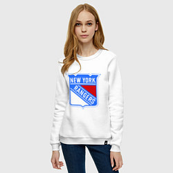 Свитшот хлопковый женский New York Rangers цвета белый — фото 2