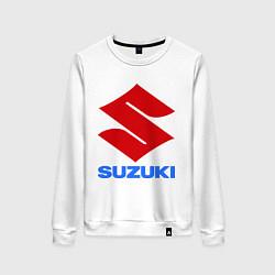 Свитшот хлопковый женский Suzuki цвета белый — фото 1