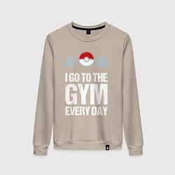 Свитшот хлопковый женский Gym Everyday цвета миндальный — фото 1